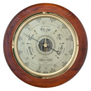 Cobb & Co Round Barometer Golden Oak