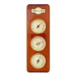 Small 3 in 1 Barometer Golden Oak
