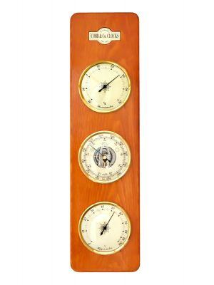 Cobb & Co Large 3 in 1 barometer in Golden Oak